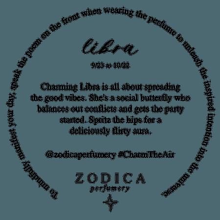 Libra 50ml Crystal Infused Zodiac Perfume - Zodica Perfumery