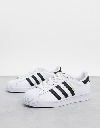 adidas Originals Superstar sneakers in white and black | ASOS