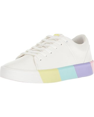 multi-colored pastel sneakers