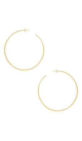 gorjana Taner XL Hoop Earrings in Gold | REVOLVE