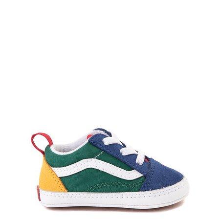 Vans Old Skool Skate Shoe - Baby - Blue / Green / Yellow | Journeys