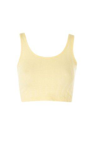 ShopperBoard Ribbed Crop Vest Top