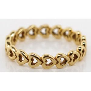 14ct gold Pandora heart ring. 'Forever love'Marked ALE 52 585,… - Rings - Jewellery