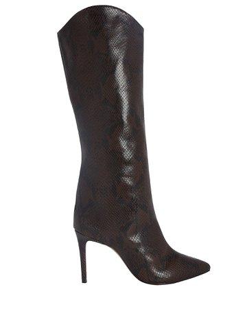 Schutz Maryana Snake-Embossed Boots | INTERMIX®