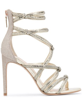Gold Sophia Webster Freya cage sandals - Farfetch