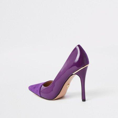 Purple fold front court shoes - Shoes - Shoes & Boots - women