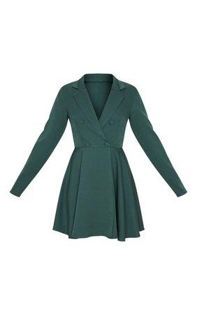 Emerald Green Skater Mini Dress | PrettyLittleThing USA