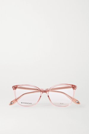 Pink Round-frame acetate optical glasses | Givenchy | NET-A-PORTER