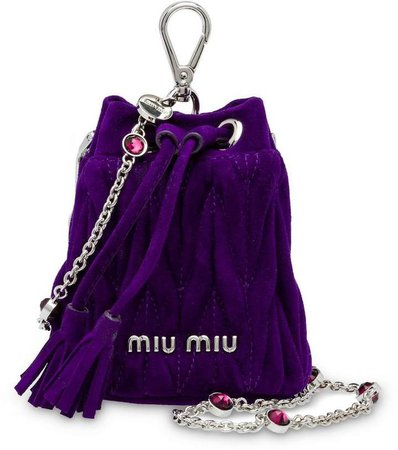 Suede mini shoulder bag