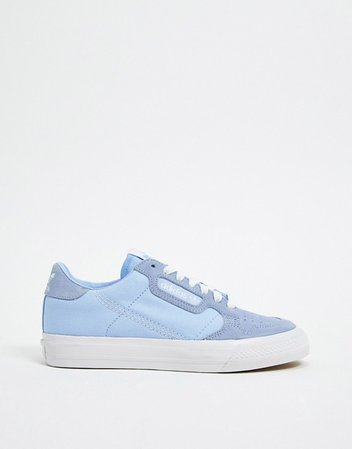 adidas Originals Continental 80 Vulc sneaker in blue | ASOS
