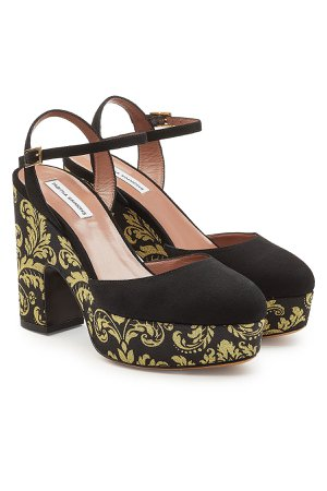 Maya Damask Platform Pumps with Suede Gr. EU 37