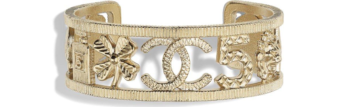 Bracelet, metal, gold - CHANEL
