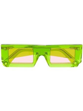 Jacquemus Les Lunettes Soleil Sunglasses 201AC0820174550 Green | Farfetch
