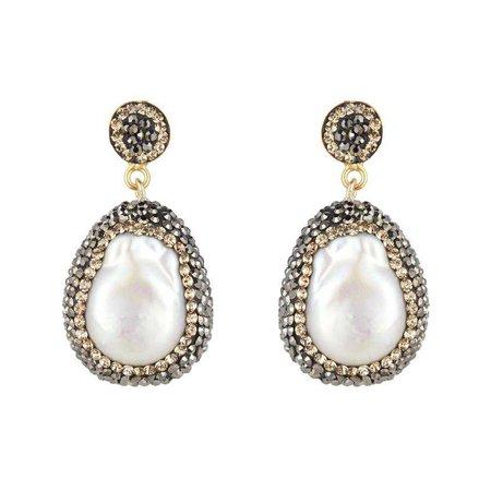 Baroque Pearl Earrings, Gold – SORU JEWELLERY
