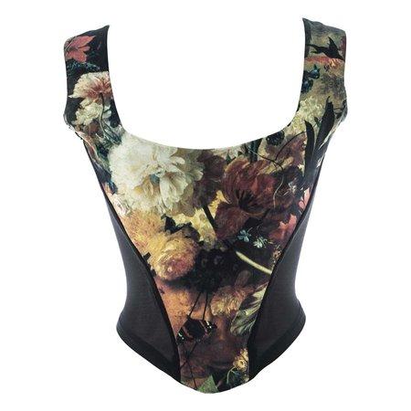 Vivienne Westwood Renaissance floral print 'Vive La Cocotte' corset, fw 1995 For Sale at 1stDibs