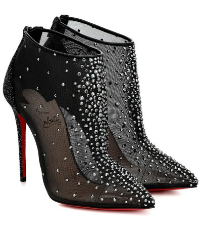 CHRISTIAN LOUBOUTIN Constella 100 mesh ankle boots