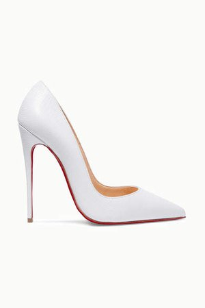 So Kate 120 Lizard-effect Leather Pumps - White