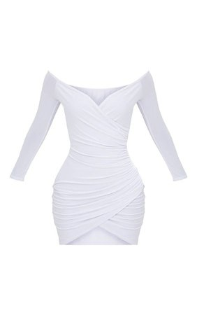 White Wrap Mini Dress