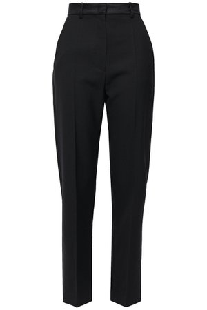 Black Electra silk-blend grain de poudre tapered pants | Sale up to 70% off | THE OUTNET | JOSEPH | THE OUTNET