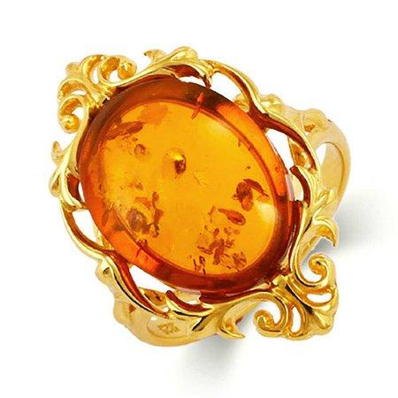 Radiant Gold + Amber Ring