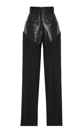 High-Rise Combined Sraight-Leg Pants by Aleksandre Akhalkatsishvili | Moda Operandi