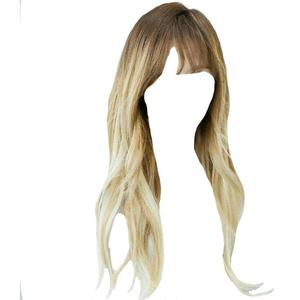 Brown and Blonde Bangs Hair PNG