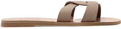 Desmos Cutout Nubuck Slides - Taupe