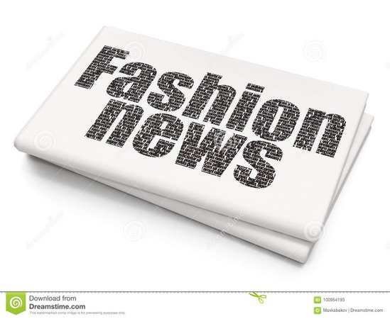 News Concept: Fashion News On Blank Newspaper Background Stock Illustration - Illustration of finance, article: 100954193