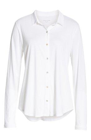 Eileen Fisher Organic Cotton Jersey Classic Collar Shirt (Regular & Plus Size) | Nordstrom