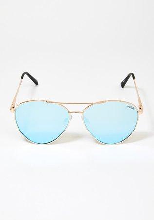 I-SEA Blue Charlie Aviator Sunglasses | Dolls Kill