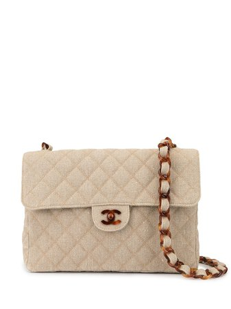 Chanel Pre-Owned Quilted Cc Shoulder Bag Vintage | Farfetch.com