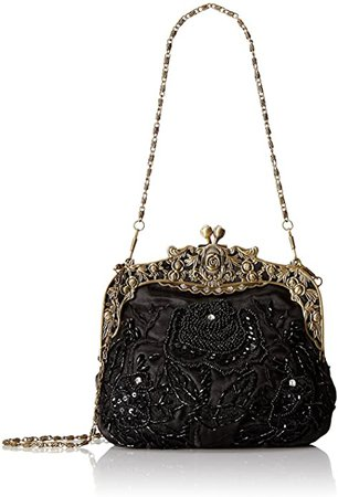ILISHOP Women's Antique Beaded Party Clutch Vintage Rose Purse Evening Handbag (Black): Handbags: Amazon.com