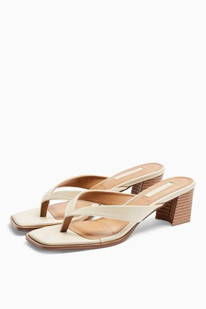 VISION Buttermilk Slip On Mules | Topshop