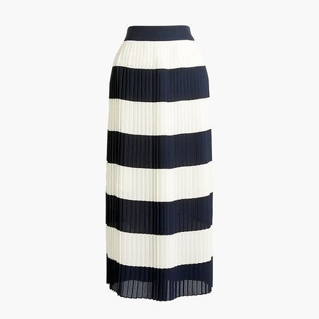J.Crew Factory: Pleated Midi Skirt In Stripe