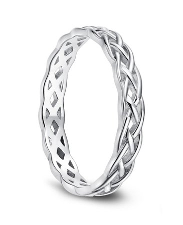 silver braided ring