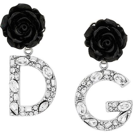 Dolce & Gabbana rose logo drop earrings