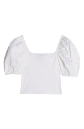 Topshop Puff Sleeve Crop Top | Nordstrom