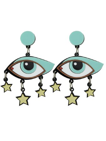 Acrylic Star Eye Hanging Earrings
