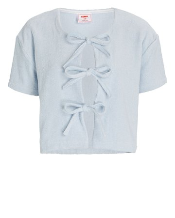 Terry Tie-Front Cotton Terry T-Shirt | INTERMIX®