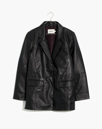 Deadwood Recycled Leather Brooke Oversized Blazer