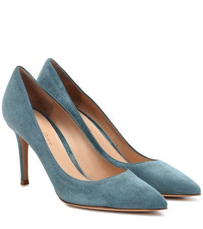 Gianvito Rossi - Gianvito 85 suede pumps | Mytheresa