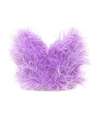 The Attico The Attico Crop Top Feathers - Purple - 11306806 | italist
