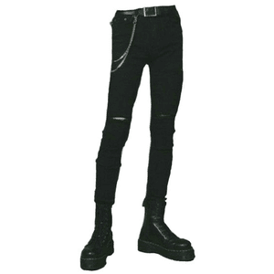 BLACK Boy Pants and Boots PNG