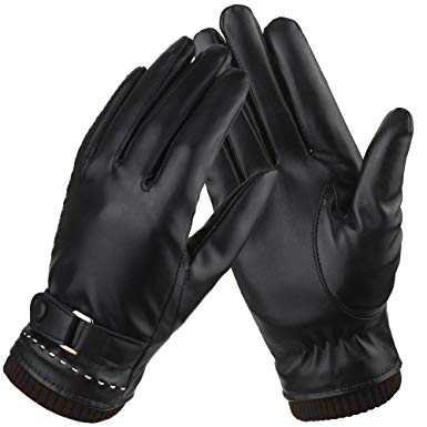 Women's Black Leather Gloves