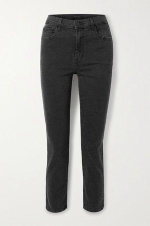Dark gray Alma cropped high-rise straight-leg jeans | J Brand | NET-A-PORTER