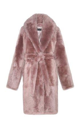The Aurora Belted Shearling Coat By Pologeorgis | Moda Operandi