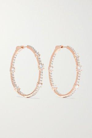 Rose gold 18-karat rose gold diamond hoop earrings   Anita Ko   NET-A-PORTER