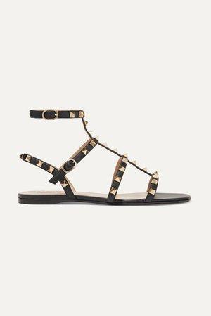 Valentino | Valentino Garavani The Rockstud leather sandals | NET-A-PORTER.COM
