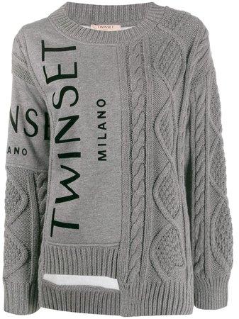 Twin-Set Contrast Knit Jumper - Farfetch