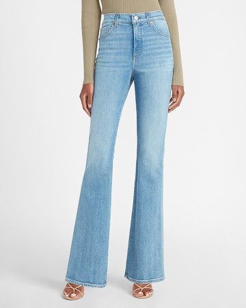 High Waisted Slim Flare Jeans